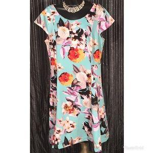Worthington} Floral Shift Dress Plus Size